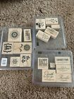 Lot Of Stampin Up Stamps Wood
