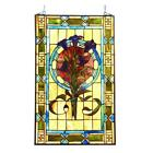 Floral Design Tiffany Style Stained Glass Window Panel Suncatcher Victorian