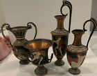 Lot of 4 Mini Copper Vases Handmade in Greece