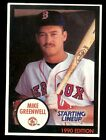 1990 Starting Lineup #39 Mike Greenwell Boston Red Sox