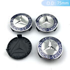 4x Wheel Center Caps Hub Cap Badge Emblem Car Rim Caps 75mm Fits Mercedes Benz