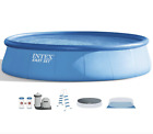 INTEX 18ft x 48in EASY SET Above Ground Pool w ACCESORIES IN HAND SHIPS TODAY