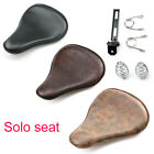 Universal Bobber Chopper Motorcycle Spring Solo Seat Distressed Soft Leather Kit