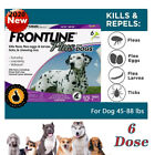 NEW FRONTLINE PLUS for Dogs 45 88 lbs Flea and Tick Treatment Control 6 Dose