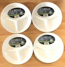4 Pc Set Plate Dish Corelle Livingware Separated Divided Dish White New
