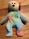 "Ty Beanie Baby ""Peace"" Bear. Great Condition. Box Included."