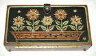 1960s Flower Power Wooden Box Handbag Purse Signed Enid Collins Needs TLC