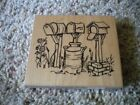 Large Rubber Stamp with three MAILBOX milk can stamp very clean good conditi