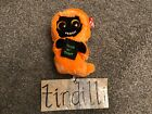 NEW Ty Grinner Ghost Skull Trick or Treat plush doll 6