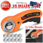Rotary Cutter With 45mm Blade Sewing Quilters Fabric Leather Cutting Tool Set US
