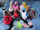 W-F-L TY Beanie 2 Stoffvogel 5 1/2-7 7/8in Duck Flamingo Chick Goose Stork