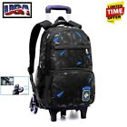 US Kids Children 6 Trolley Wheel Backpack Boy School Travel Luggage Racksack Bag