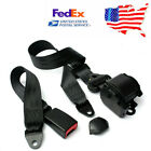 Universal Retractable 3 Point Seat Belt Lap  Diagonal Belt  US Stock