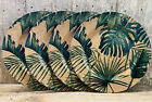 Set Of 4 Gorgeous Cork  Tropical Leaves 13 Charger Plates