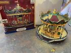 Lemax Sunshine Carousel Sights And Sounds #14325 Holiday Village Series With Box