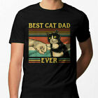 Best Cat Dad Ever Funny Cat Lover Fathers Day Men T Shirt Cotton S 5XL Black