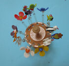 LAUSCHA GLASS Authentic Cocktail stirrer Small Glass stirres Animal Flowers in