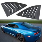 2X ABS Side Window Louver Sun Shade Cover Matte Black for Chevy Camaro 2010 2015
