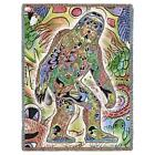 72x54 SASQUATCH Bigfoot Native Southwest Tapestry Afghan Throw Blanket