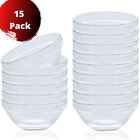 Set of 15 Kitchen Bowls Thick Glass Stackable Clear Bowl 35 Inch Kitchen Food
