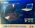 VIBE Turntable Vinyl 2 MP3 USB Audio Sound Record Player w Built in Speakers