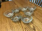 7 Clear Anchor Berry Bowls Very good condition