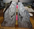 BEAUTIFUL 16642 GM ETCHED CAMPO DEL CIELO METEORITE BOOK ENDS