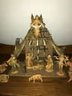 VINTAGE FONTANINI HEIRLOOM NATIVITY SET CRECHE + 13 5 FIGURINES RETIRED EUC