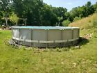 Used 20 x 48 Ultra Intex above ground pool with filter pump