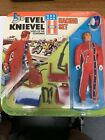 Vintage 1975 EVEL KNIEVEL Racing Set Action Figure Doll IDEAL Toy Corp NRFP MINT