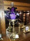 RARE Fenton Hand Painted ROYAL PURPLE Student Lamp LIMITED EDITION 65 1450