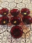 Antique Ruby Red Desert Dishes 7 Dishes With Tags