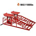2X Auto Home Car Service Duty Lifts Heavy Ramps Repair Hydraulic Lift Frame