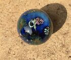 Josh Simpson Art Glass Marble Inhabited Planet with
