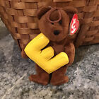 Ty ALPHABET Beanie Baby Bear Letter E - New with Tag  COLLECTIBLE