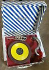 Birch Portable Phonograph suitcase record player vintage
