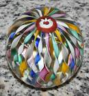 Vintage FRATELLI TOSO Murano Art Glass TWISTED Ribbon CROWN Paperweight w TAG