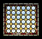 Awesome Rare Victorian Rondels Antique Stained Glass Window
