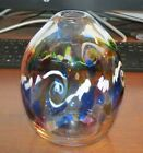 Kitras Art Glass 6 1 2 Hand Blown Color Wave Glass Vase 2015 signed EXC
