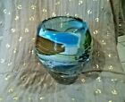 Signed Murano Glass Rainbow Colors 6 1 4 Tall Vase Heavy Flawless 1989
