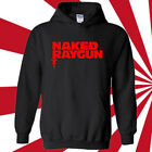 Naked Raygun Logo Rock Band Legend Mens Black Hoodie Size S 3XL