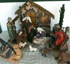 RARE Large Kirkland Nativity Set 18 piece Hand Painted Fabric Clothing Christmas