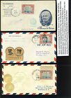 3 NICE EDISON THEMED Airmail Covers Featuring SCOTTC11 BEACON STOCK C11 z102