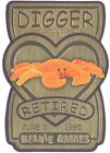 TY Beanie Babies BBOC Card - Series 3 Retired (GOLD) - DIGGER the Orange Crab