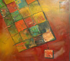 Abstract cubism modernist oil painting signed