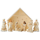Jim Shore 2020 HOLIDAY LUSTRE 8 PC MINI NATIVITY SET BLESSED BIRTH 6006651