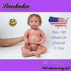 20 Silicone Reborn Baby Girl Doll With Hair Newborn Handmade Cute Toy For Mum