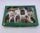 Vintage 13 pc Hand Painted Nativity Set Germany Friedel Krippenfiguren