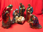 Hawthorne Village The Jeweled Nativity Figurine Collection Lot of 5