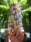 RARE Vintage Murano MILLEFIORI LAMP Glass base only Rare Satin glass Italy